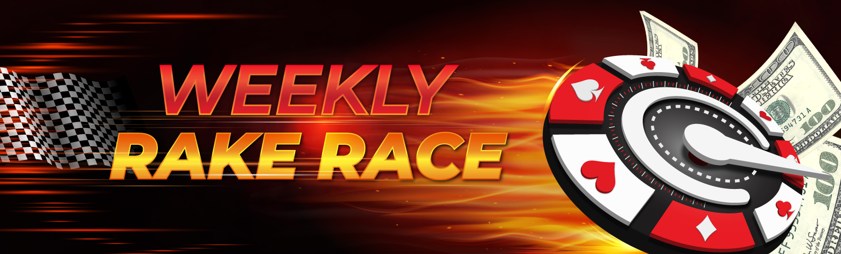 Poker Rake Race Weekly Cash